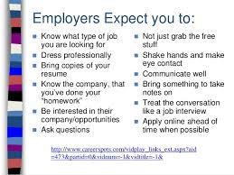 Job Fair Preparation
