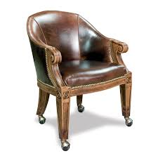 quality chairs with casters custom leather ivey collection