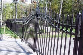 Metal Fence Gate IRON FENCES Metal Fence Gate Nongzico