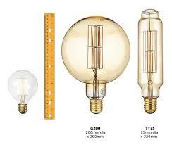 Giant Light Bulb Lamp Calex Giant Xxl Led Filament Megaglobe When Big Isnt Enough