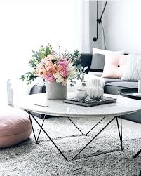 coffee marble table white marble coffee table with flowers and grey couch marble coffee table
