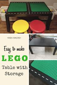 Separate shelf for magazines, etc. Diy Lego Table With Storage Easy Ikea Hack The Kids Wlll Love