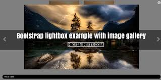 Light Box In Html Example Bootstrap Lightbox Example With Image Gallery