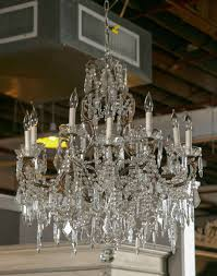 an elegant and finely constructed vintage french marie therese style crystal chandelier circa 1960s