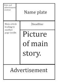Newspaper Article Template For Pages Blank Newspaper Front Page Template Uploaded 3 Years Ago Newspaper
