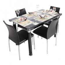bent 4 seater glass top dining table set woodys furniture creative of dining tables with 4