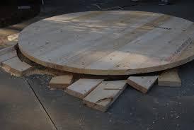 circlular table top fresh cuts