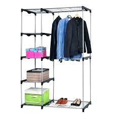 portable hanging closet mainstays double hanging closet organizer instructions hanger wood clothing racks storage rack portable