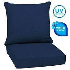 outdoor patio deep chair cushions set
