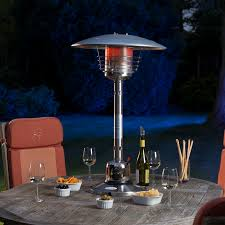 sirocco stainless steel table top gas patio heater