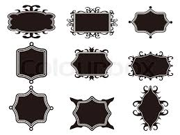 vintage black frame. Set Of Black Retro Frame, Vector Vintage Frame