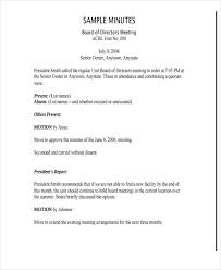 board of directors minutes of meeting template 7 nonprofit meeting minutes template free premium templates
