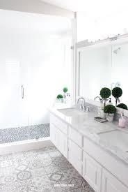 white bathroom ideas. Plain Ideas Gray And White Bathroom Ideas Rustic Patterned Tiles Rock  Shower Floor On White Bathroom Ideas