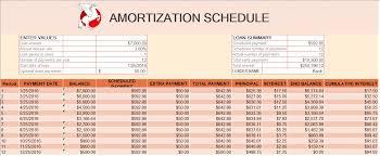 Amortization Schedule Templates Buraq Printables
