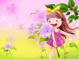 Cartoon wallpaper Vector childhood ...