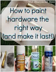 Painting Bathroom Fixtures Spray Painting Door Hardware Do It Yourself Pinterest Coats