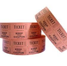 2 part raffle tickets 2 part raffle tickets orange