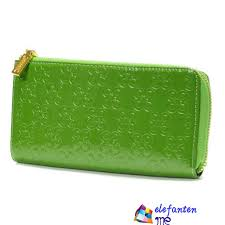 Green Coach Accordion Zip Large Wallets
