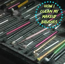 how to quickly and easily clean your makeup brushes myfinds