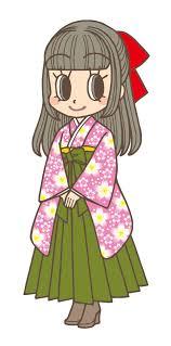 卒業式で袴ならハーフアップで編み込みはいからさんとリボンがオシャレ