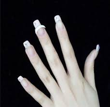 Amazon.com : 10 Sheets Nail Art French Tips Stickers Form Fringe ...