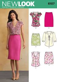 Top Patterns Delectable New Look 48 Top And Skirt