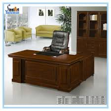 office table wood.  Wood Office Furniture Modern Design Executive L Shape Wooden Table  FECA27 On Wood