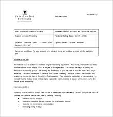 Marketing Manager Job Description Template 40 Free Word PDF Amazing Job Description Template Word