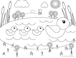 Printable Spring Coloring Pages Preschool Free For Kids At Pres