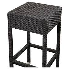 Cailen Outdoor Wicker Bar Stools Set Of 2  Espresso  Abbyson Outdoor Wicker Bar Furniture
