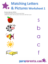 Matching Letters Worksheets | guruparents