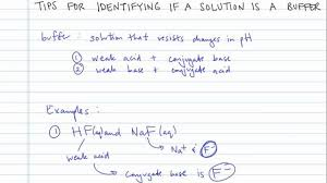 Tips For Iding If A Solution Is A Buffer Concept