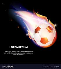 Soccer Graphic Design Isolated Fire Soccer Ball Or Football Symbol Stars