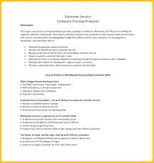 Course Proposal Template Customer Service Proposal Template Training Manual Free