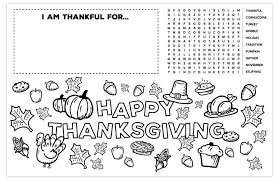 Free thanksgiving coloring pages, perfect to keep the kids entertained while you're busy in the kitchen on turkey day. Thanksgiving Placemat For Kids Free Printable Activity And Coloring Page