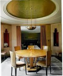 art deco dining room in the president s house at cranbrook academy of art michigan usa designed by eliel saarinen finland