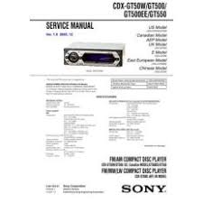 cdx for ioffer sony cdx gt40w gt400 gt450 gt450s service manual by dow