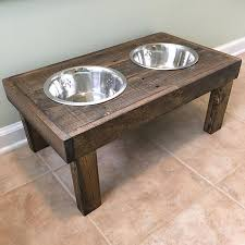 ashley huber on instagram raised dog bowl holders at 10 high i sanded and stained it this weekend need to add poly but it s too cold right now