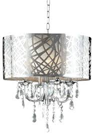 modern tiered crystal and chrome chandelier 4 light contemporary home design
