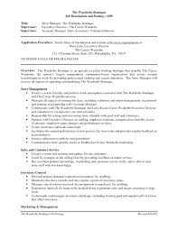 Duties Of A Sales Associate In Retail For Resume Retail Associate