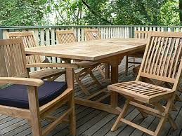 teak outdoor setting