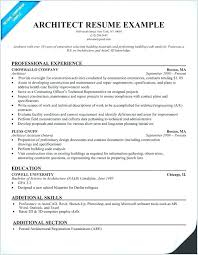 Architect Resume Template New Creative Architect Resume Examples Combined With Architecture Resume