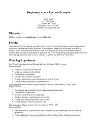 Student Nurse Resume Sample Example Student Nurse Resume Free Sample