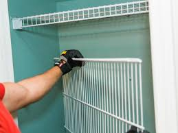 step 1 remove wire shelvinglift out wire shelving and using a straight driver or