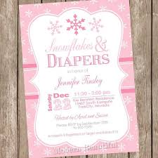 Snowflake Baby Shower Invitations Pink Snowflake Baby Shower Invitation Winter Baby Shower Invitation