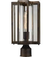 elk lighting 45148 1 bianca hazelnut bronze 8 inch 1 light outdoor post undefined