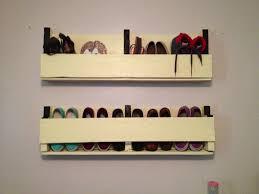 diy wall mounted shoe rack storage ideas