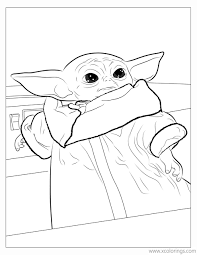 Fun & easy to print. Baby Yoda Coloring Pages For Kids Xcolorings Com