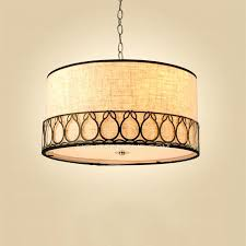 drum shade pendant drum shade pendant light chic on dining room pertaining to rustic lighting 3