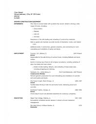 Forklift Resume Sample human resources objective for resume web ...